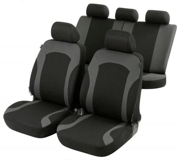 Autositzbezug Schonbezug, Komplett Set, Opel Vectra-C-CC, Schwarz, Grau