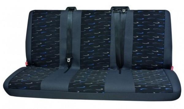 Transporter Autositzbezug, Schonbezug, 1 x 3er-Bank hinten, Peugeot Expert, Farbe: Grau/Blau