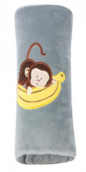 Autogurt-Schlafkissen für Kids, flauschig, 27 x 10 cm, grau