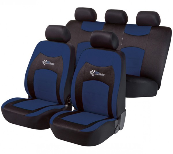 Autositzbezug Schonbezug, Komplett Set, Kia Sportage, Schwarz, Blau