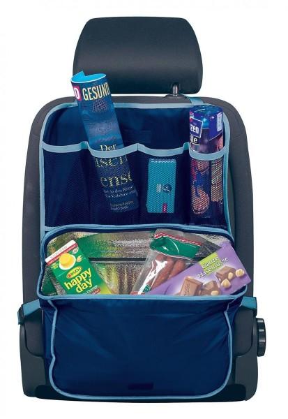Rücksitztasche mit Kühltasche, universal, einfache Montage, 40 x 58 cm, blau