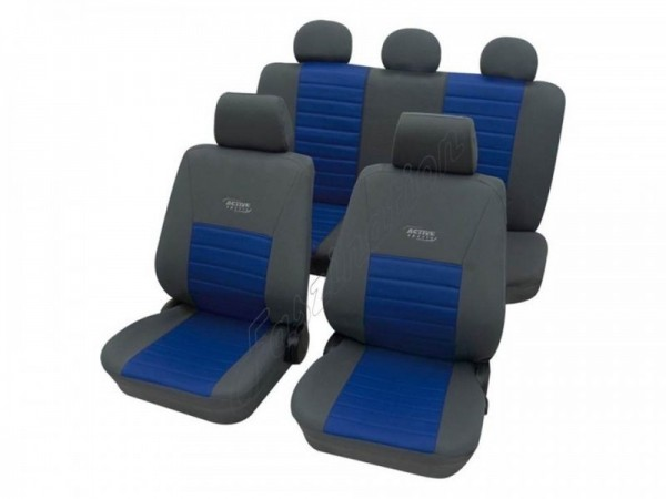 Autositzbezug Schonbezug, Komplett-Set, Alfa Romeo Alfasud, Grau Blau Anthrazit