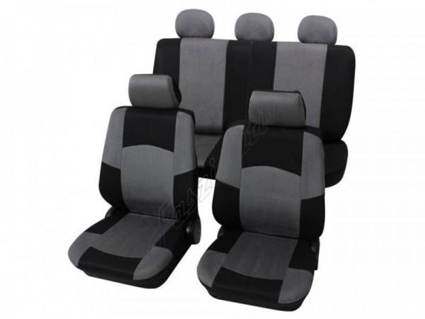 Autositzbezug Schonbezug, Komplett-Set Rover Mini, 75, Grau Anthrazit Schwarz