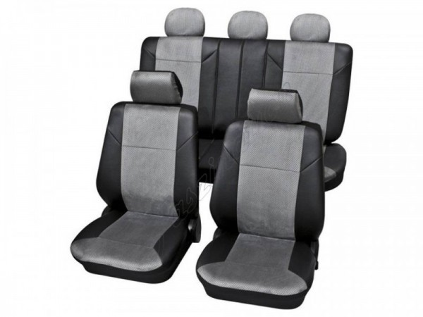 Autositzbezug Schonbezug, Komplett-Set, Peugeot 205, Grau Schwarz