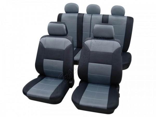 Autositzbezug Schonbezug Lederlook-Optik, Komplett-Set, Alfa Romeo 156, Blau Hellblau