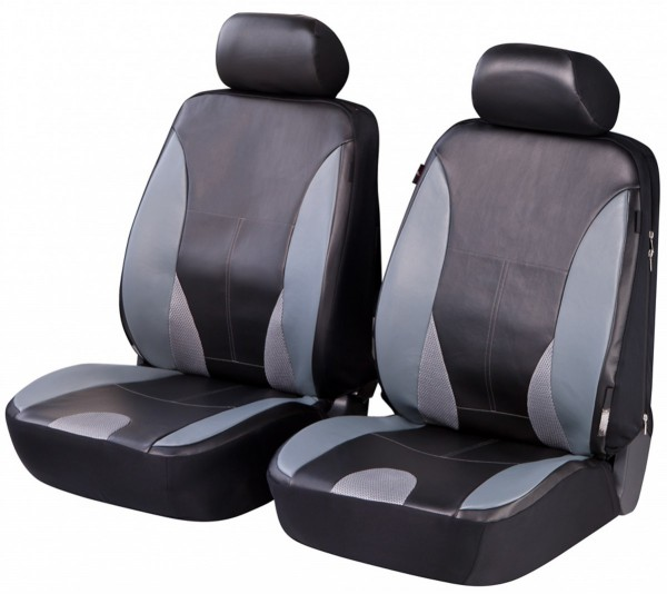 Autositzbezug Schonbezug, Kunstleder, Vordersitzbezüge, Subaru nur Vordersitzbezüge, Schwarz, Grau