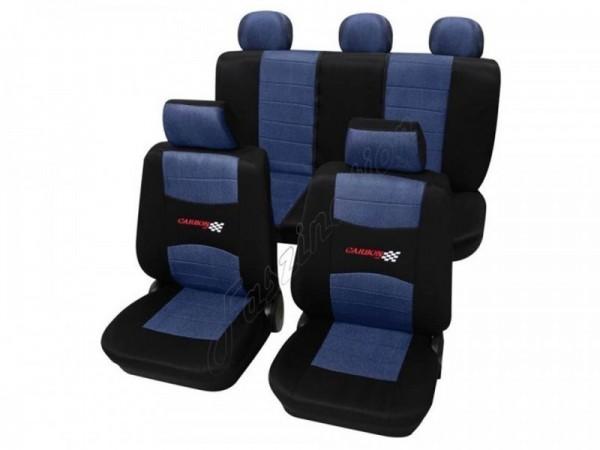 Autositzbezug Schonbezug, Komplett-Set Rover Mini, 75, Blau Schwarz