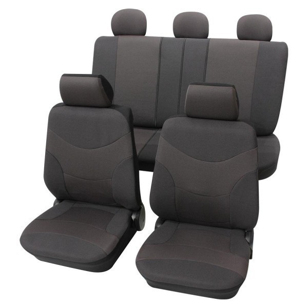Autositzbezug Schonbezug, Komplett-Set, Alfa Romeo 156, Grau Anthrazit