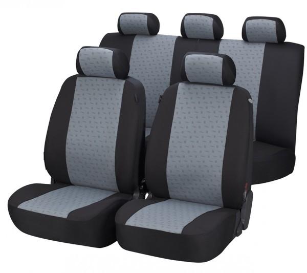Autositzbezug Schonbezug, Komplett Set, Hyundai Atos, Grau