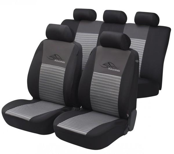 Autositzbezug Schonbezug, Komplett Set, Opel Combo, Schwarz, Grau