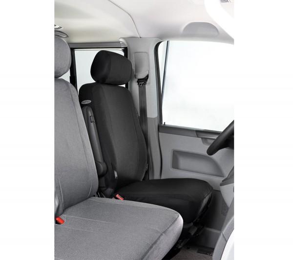 Transporter Autositzbezug, VW T5 Einzelsitz vorne, Jacquard Stoff, ab 04/2003, anthrazit