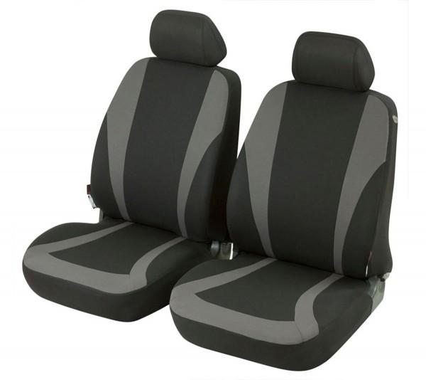 Autositzbezug Schonbezug, Vordersitzbezüge, Citroen C4 Picasso, Schwarz, Grau