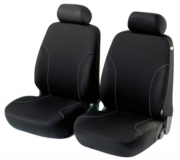 Autositzbezug Schonbezug, Vordersitzbezüge, Fiat 500, Schwarz