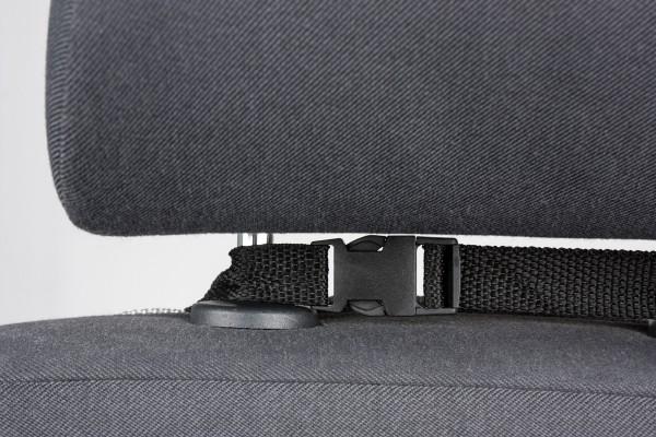 Rücksitztasche, universal, mit vielen Staufächern, einfache Montage, 42 x 66 cm, schwarz
