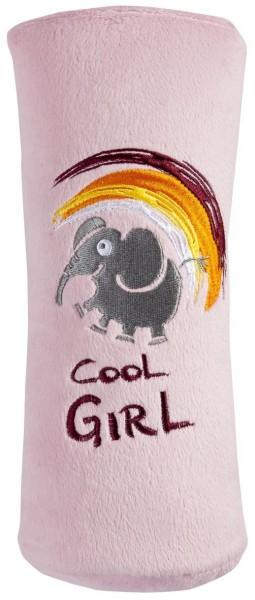 Autogurt Schlafkissen für Kids, flauschig, 27 x 8 x 11 cm, rosa
