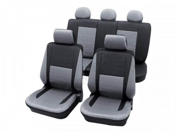 Autositzbezug Schonbezug, Komplett-Set, Peugeot 205, Silber Grau Anthrazit