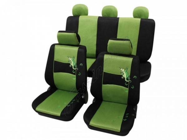 Autositzbezug Schonbezug, Komplett-Set, Alfa Romeo 75, Grün Schwarz