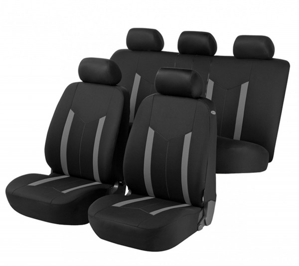 Autositzbezug Schonbezug, Komplett Set, Suzuki Alto, Schwarz, Grau