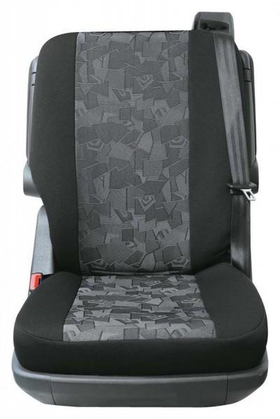 Transporter Autositzbezug, Schonbezug, 1 x Einzelsitz hinten, Peugeot Expert, Farbe: Schwarz, Grau