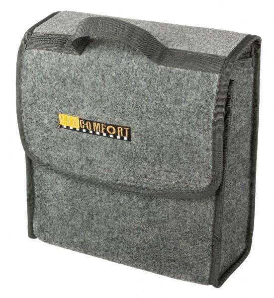 Kofferraumtasche, Größe S, praktisch, platzsparend, 283 x 140 x 280 mm, grau