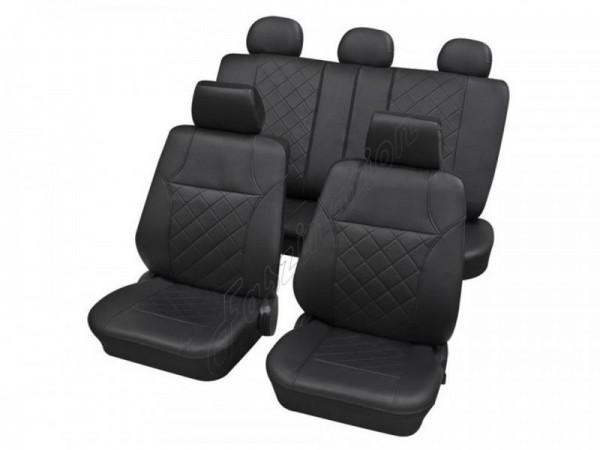 Autositzbezug Schonbezug, Komplett Set, Peugeot 309, Anthrazit Schwarz