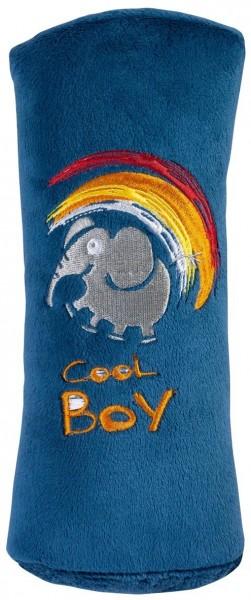 Autogurt-Schlafkissen für Kids, flauschig, 27 x 8 x 11 cm, blau