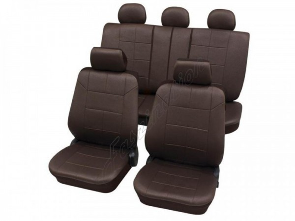 Autositzbezug Schonbezug Lederlook-Optik, Komplett-Set, Alfa Romeo 145, Braun Braunrot
