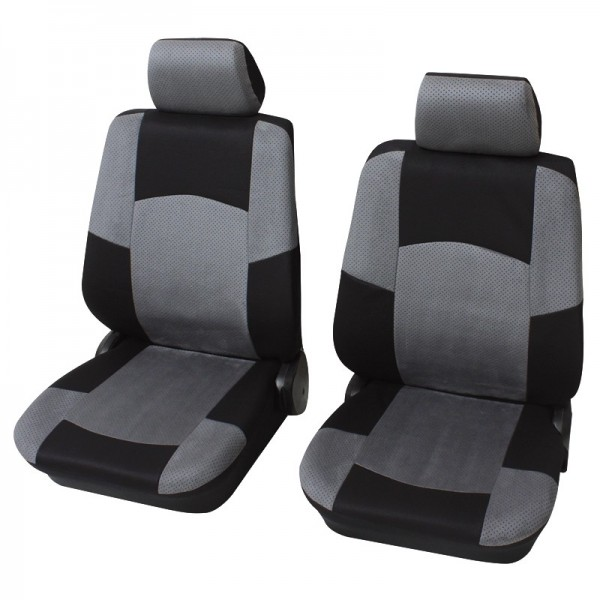 Autositzbezug Schonbezug, Vordersitzgarnitur, Peugeot 207 CC, Grau Anthrazit Schwarz