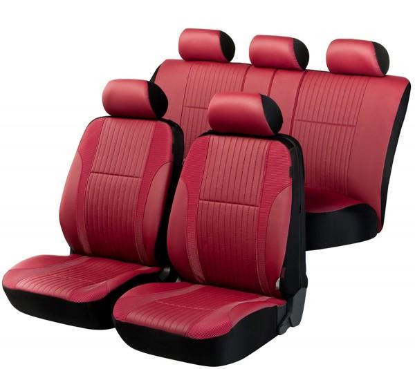 Autositzbezug Schonbezug, Kunstleder, Komplett Set, Peugeot 106, Rot