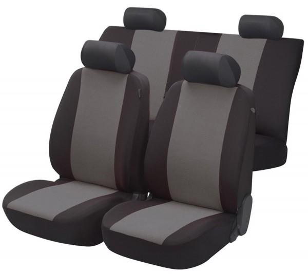 Autositzbezug Schonbezug, Komplett Set, BMW 7er, Schwarz, Grau