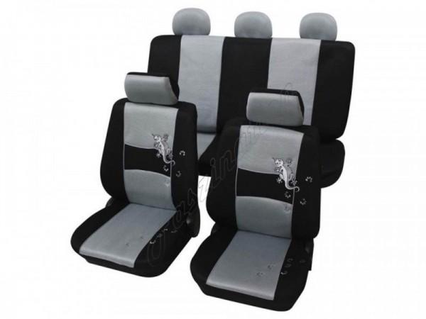 Autositzbezug Schonbezug, Komplett-Set, Alfa Romeo 164, Silber Grau Schwarz
