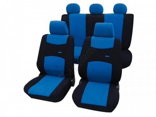Autositzbezug Schonbezug, Komplett-Set, Peugeot 309, Blau Schwarz