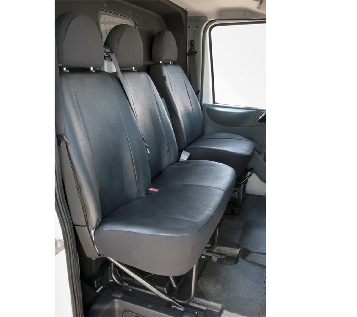 Sitzbezüge Verstärkt mit Kunstleder FORD TRANSIT bis 2014 CEN DV1L2L Schonbezüge