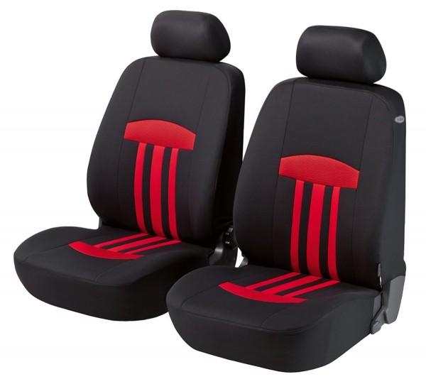 Autositzbezug Schonbezug, Vordersitzbezüge, Toyota Verso, Schwarz, Rot