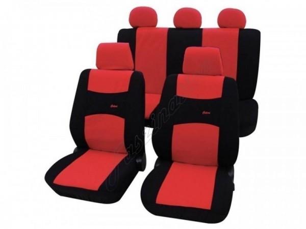 Autositzbezug Schonbezug, Komplett-Set, Alfa Romeo 146, Rot Schwarz