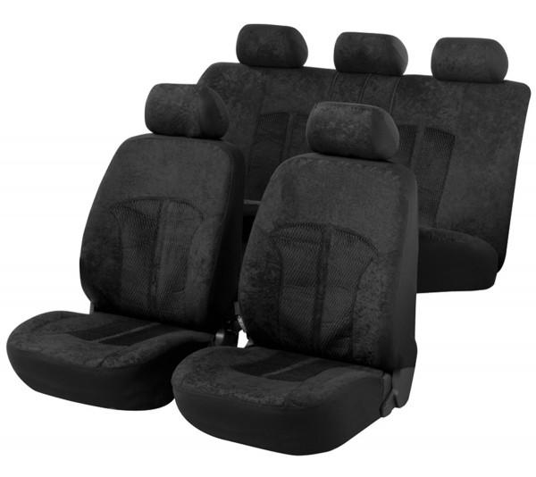 Autositzbezug Schonbezug, Komplett Set, Honda HRV, Schwarz