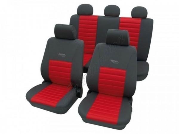Autositzbezug Schonbezug, Komplett-Set, Alfa Romeo 156, Rot Blau Anthrazit