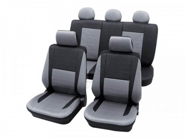 Autositzbezug Schonbezug, Komplett-Set, Alfa Romeo 146, Silber Grau Anthrazit