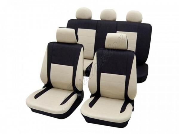 Autositzbezug Schonbezug, Komplett-Set, Alfa Romeo 145, Beige Creme Anthrazit