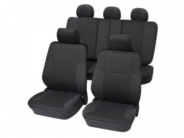 Autositzbezug Schonbezug, Komplett-Set, Alfa Romeo 156, Anthrazit Schwarz