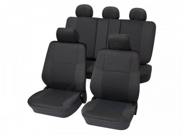 Autositzbezug Schonbezug, Komplett-Set, Alfa Romeo 75, Anthrazit Schwarz