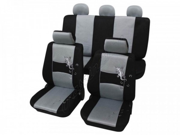 Autositzbezug Schonbezug, Komplett-Set, Alfa Romeo Alfetta, Silber Grau Schwarz