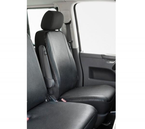 Transporter Autositzbezug, VW T5 Einzelsitz vorne, Nappa Kunstleder, ab 04/2003, anthrazit