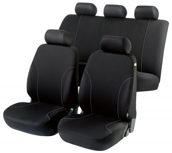 Autositzbezug Schonbezug, Komplett Set, Opel Astra-G-CC, Schwarz