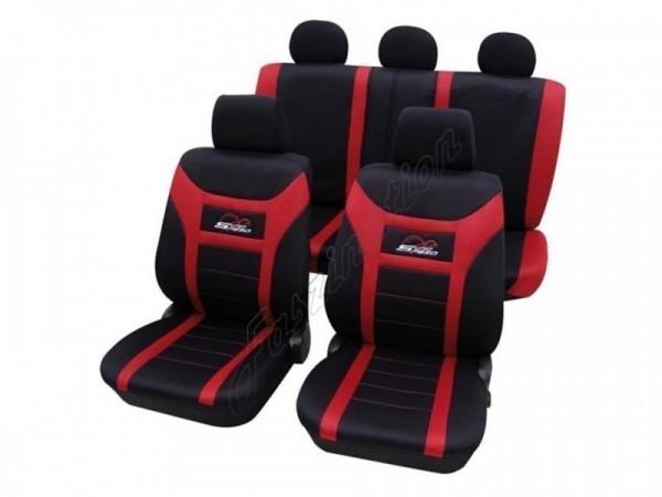 Autositzbezug Schonbezug, Komplett-Set, Alfa Romeo 155, Schwarz Rot