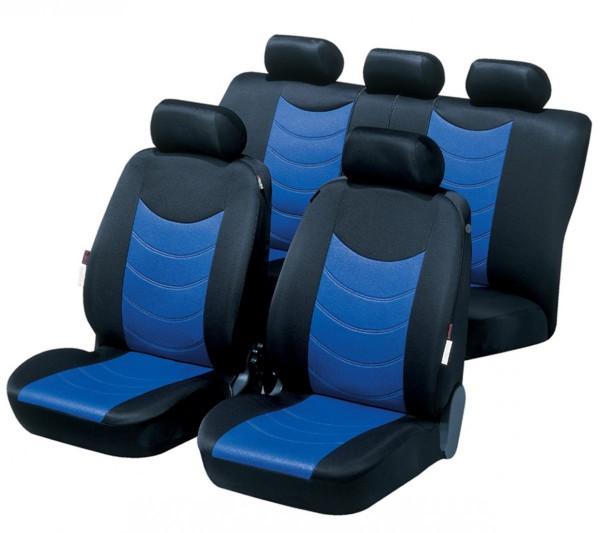 Autositzbezug Schonbezug, Komplett Set, Opel Zafira (Zafira-C), Blau