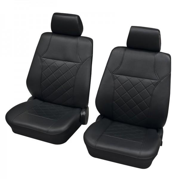 Autositzbezug Schonbezug, Vordersitzgarnitur, Peugeot 207 CC, Anthrazit Schwarz