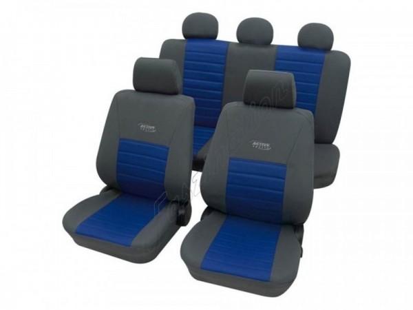 Autositzbezug Schonbezug, Komplett-Set, Alfa Romeo 164, Grau Blau Anthrazit