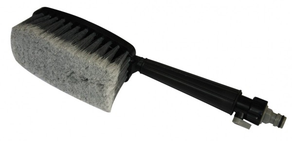 Waschbürste, universal, mit Schlauchanschluss, stabile Borsten, 435 mm , schwarz, grau