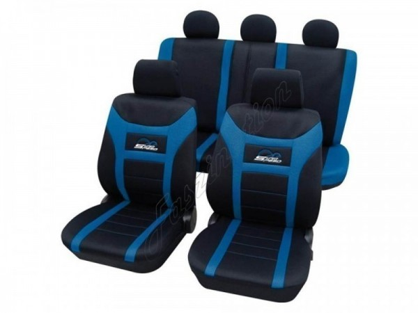 Autositzbezug Schonbezug, Komplett-Set, Alfa Romeo Alfetta, Schwarz Blau